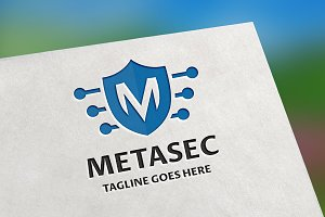 MetaSec (Letter M) Logo