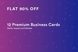 12 Premium Business Cards