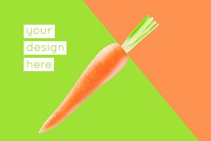 Graphical background with a carrot