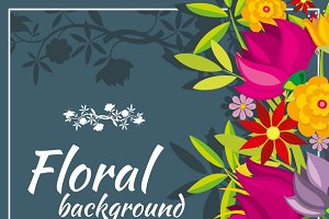 Abstract vector spring background
