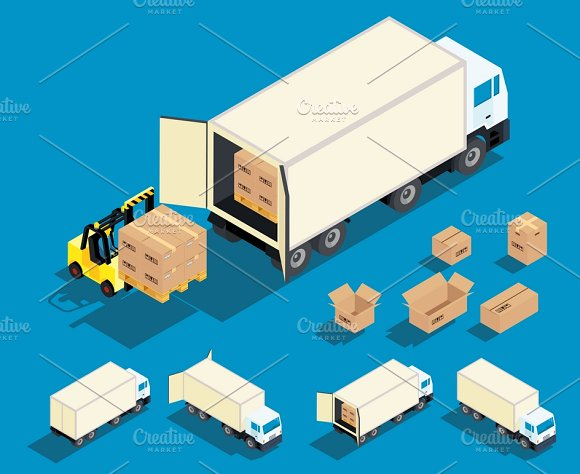 Loading Cargo In The Truck
