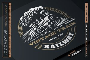 Locomotive logo illustration