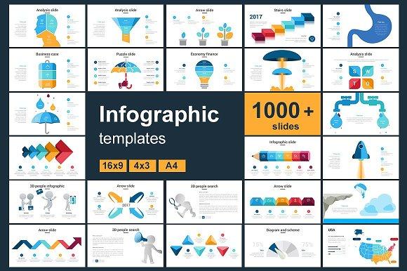 Infographic Slides 1000 Bundle