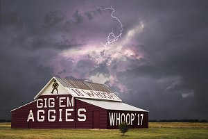 A&M Barn in the Storm