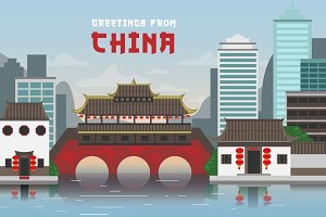 Greetings from China Illustration