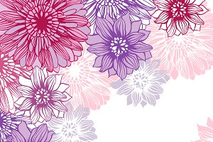 Floral backgrounds with flowers.