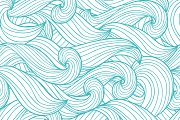 Seamless backgrounds of waves.