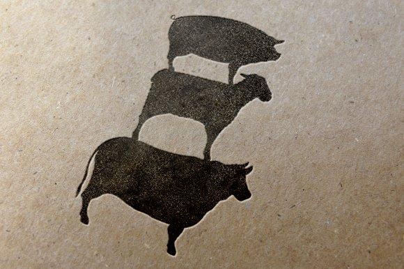 Animal Icons Pig-Cow-Lamb