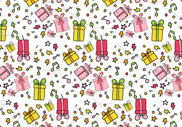 Cute Colourful Gift Bags Pattern