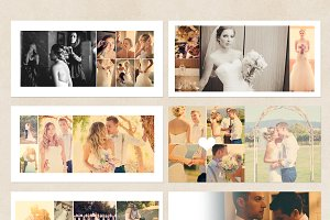 White Wedding Album Template
