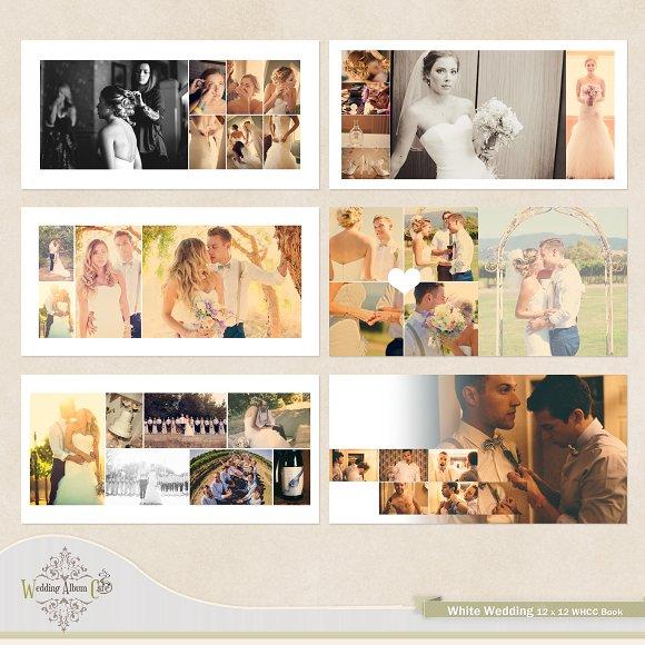 White Wedding Album Template