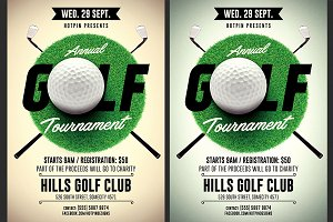 Golf Tournament Flyer Template