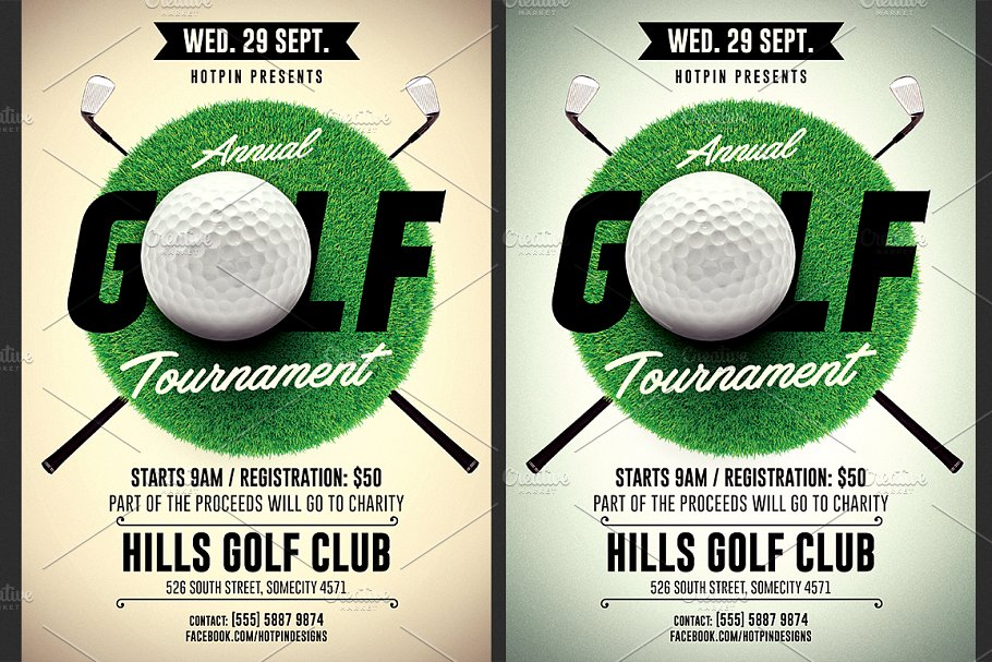 Golf Tournament Flyer Template Flyer Templates Creative Market Pro