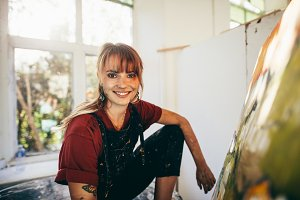 Professional female painter