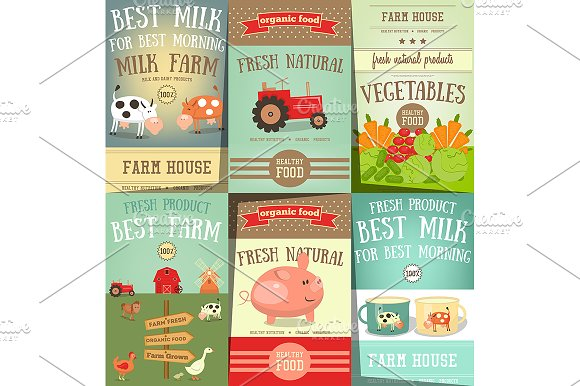 Farm Food And Agriculture Posters