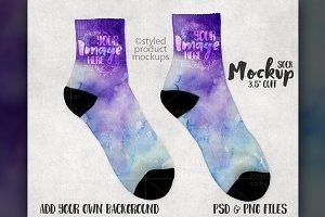 3.5 inch cuff sock mockup