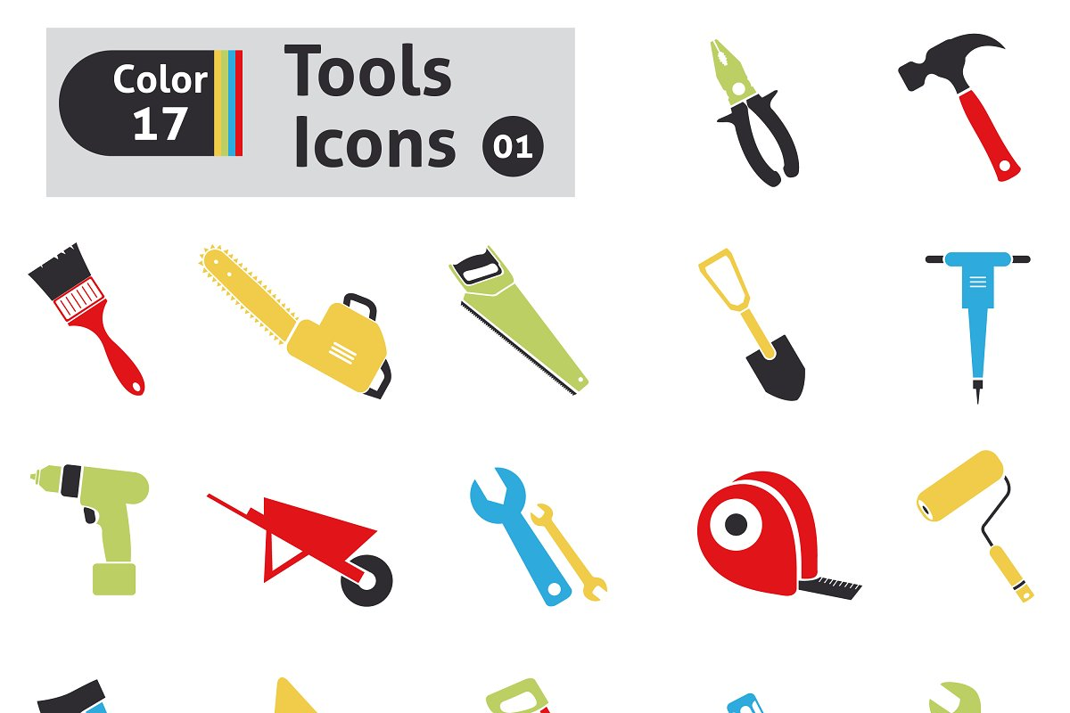 Tools icons in Graphics - product preview 8