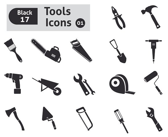 Tools icons in Graphics - product preview 1