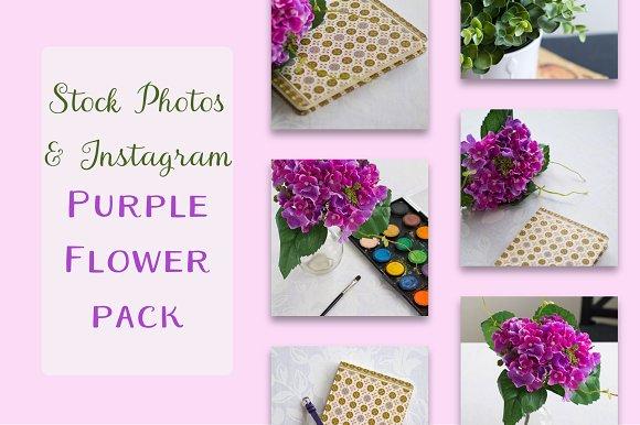Instagram Purple Flower Pack