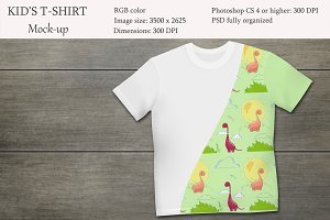 Kids t-shirt mockup. Product mockup.