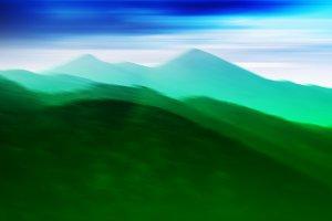 Horizontal vivid green hills landscape background backdrop abstr