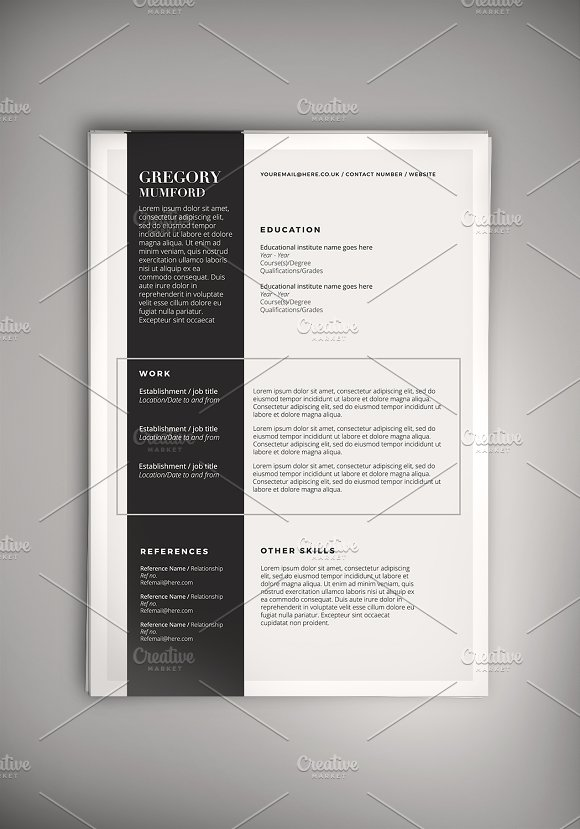 Highlight CV (DOC + PSD)