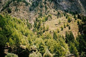 Ancient vertical mountain village landscape