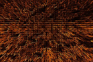 Horizontal orange communication business abstraction background