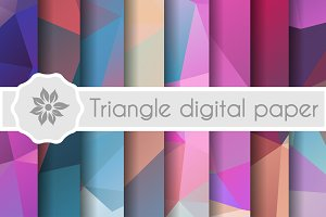Geometric Triangle digital papers