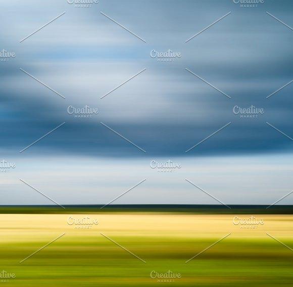Horizontal Motion Blur Travel Landscape