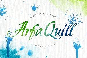 ArfaQuill Calligraphic Script
