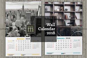 Wall Calendar 2018 (WC028-18)