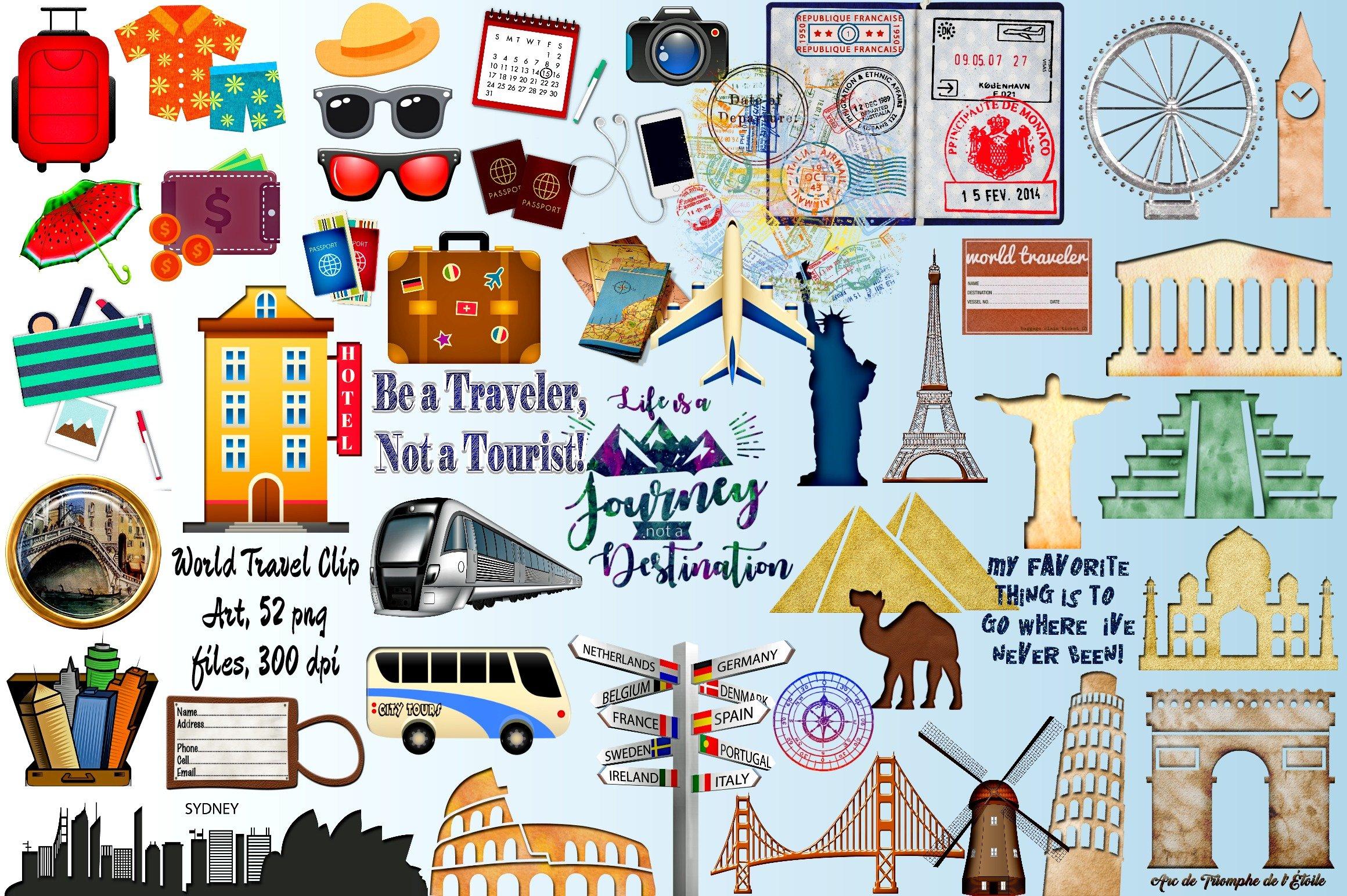 World Travel Clip Art Megapack
