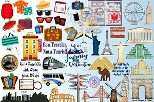 World Travel Clip Art Megapack