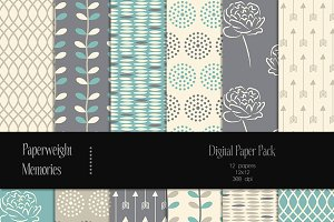 Patterned Paper - Blueberry Fields