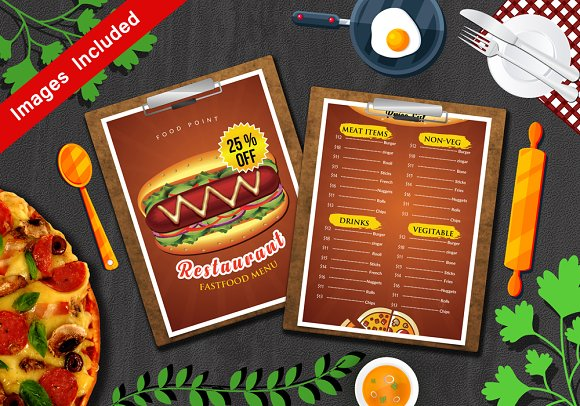 Restaurant Menu Print Templates