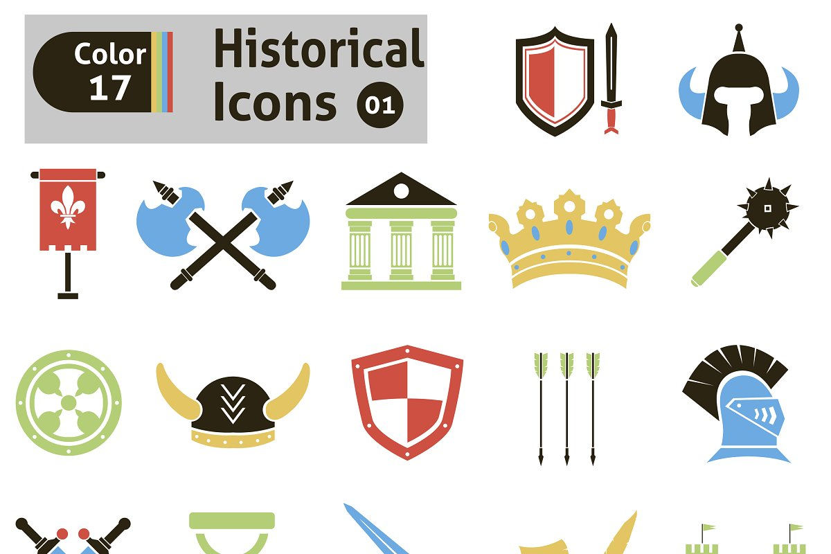 Histoical icons in Icons - product preview 8
