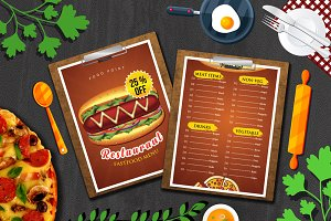Restaurant Food Menu Mockups
