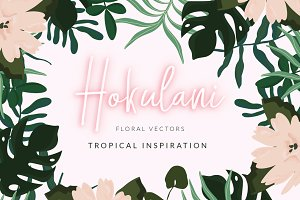 Tropical Flowers & Leaves Vectors