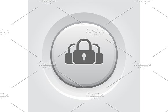 Multikey Security Services Icon Flat Design