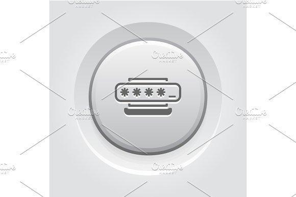Access Password Icon Flat Design