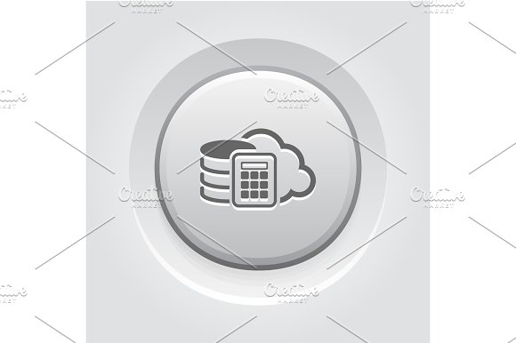 Secure Cloud Storage Icon Flat Design