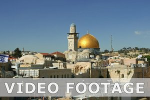 Dome of the Rock and Western Wall in Jerusalem