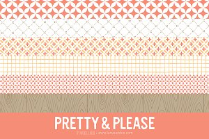 Pretty & Please Patterns (Clipart)