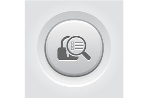 Security Scan Icon. Flat Design.