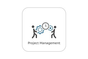Project Management Icon. Flat Design.