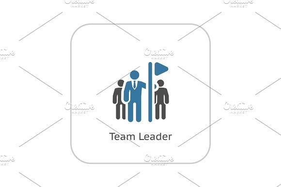Team Leader Icon Flat Design