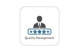 Quality Management Icon. Flat Design.
