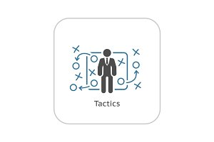 Tactics Icon. Flat Design.