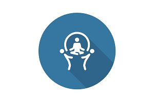 Business Concept Icon. Flat Design.